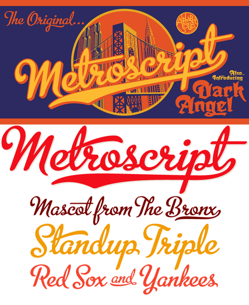Premium font metroscript fonts by afiqi on