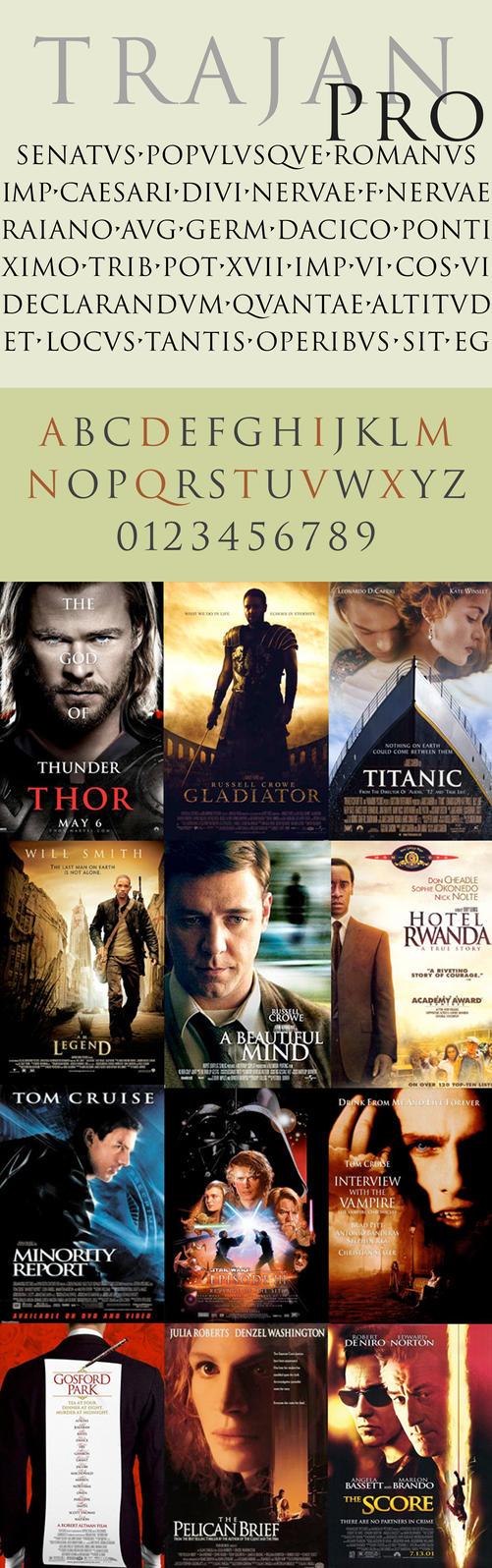 Premium Font: Trajan Pro by Afiqi
