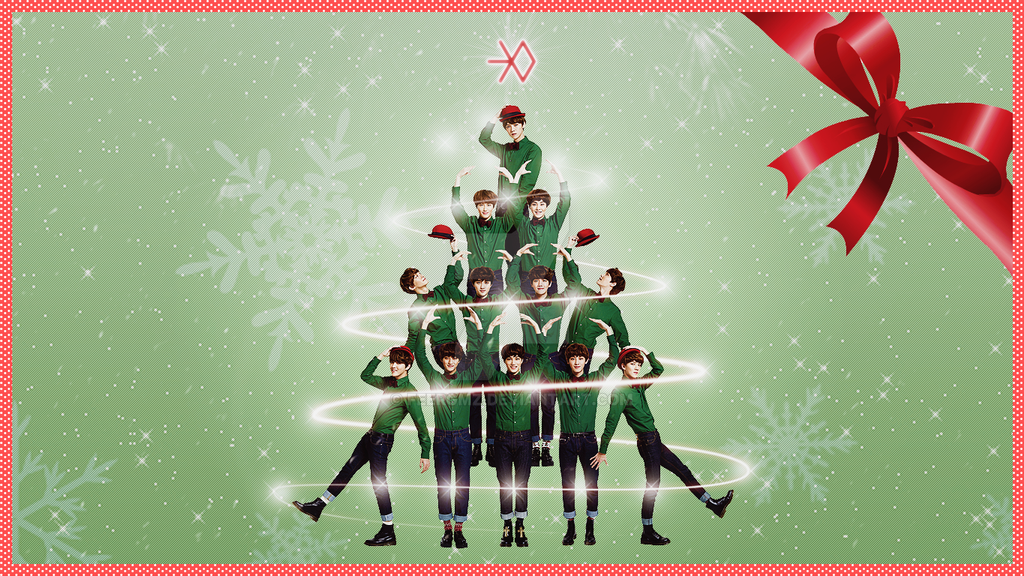 Wallpaper Exo Christmas Comeback By Feergmz On Deviantart