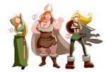 Viking spanking - choose the spankee!