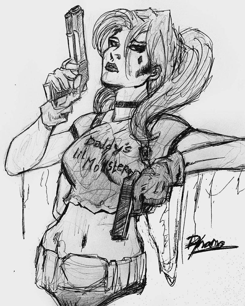 Harley Quinn art by Dynamo-Debanjan
