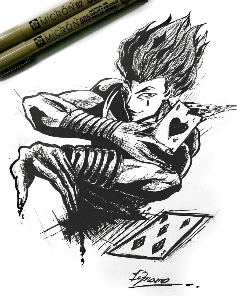 hisoka fan art by Dynamo-Debanjan