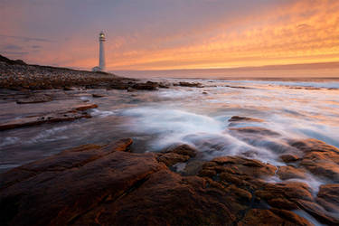 Slangkop Lighthouse by hougaard