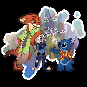 Stitch In Zootopia