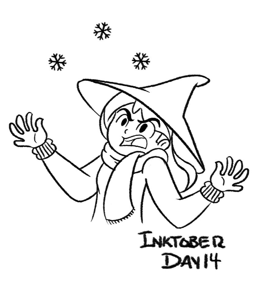 Inktober Day 14: SNOW IN OCTOBER?! by PhantomPhoenix4