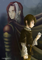 Farewell: Arya Stark and Jaqen H'Ghar by SleepingAnto