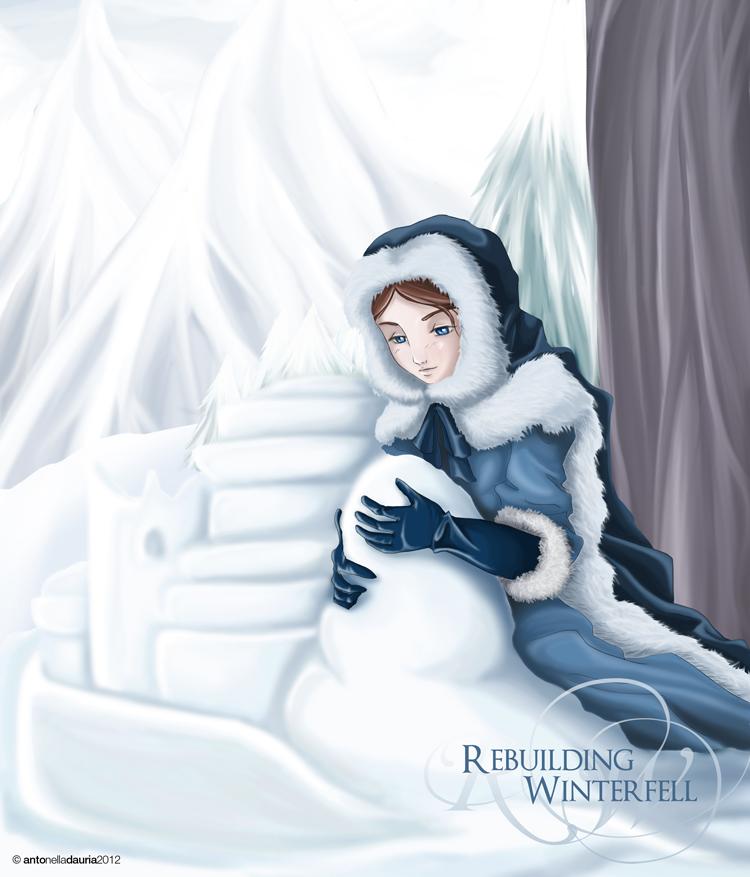 Sansa Stark - Rebuilding Winterfell by SleepingAnto