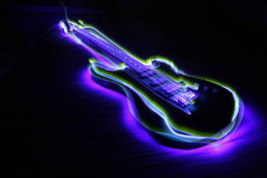 Light painting - Guitar