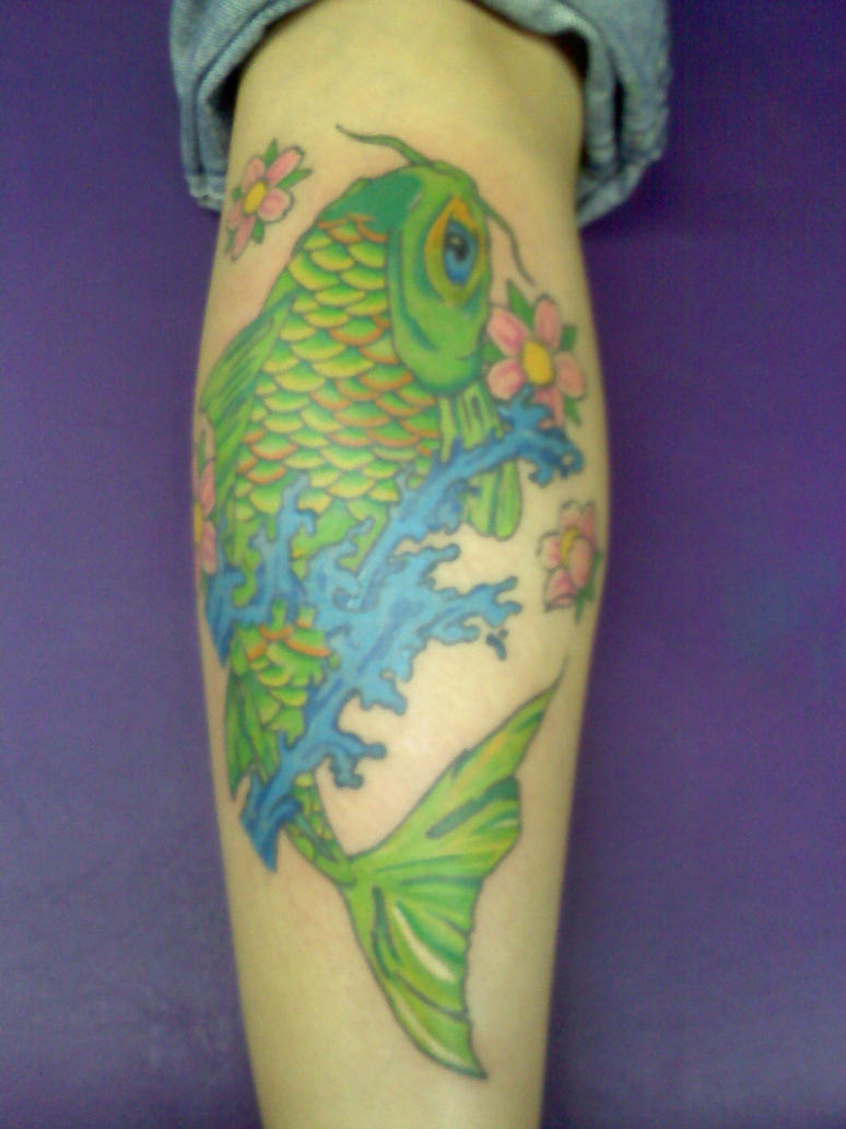 Green koi by missing direction on deviantart for Green koi fish