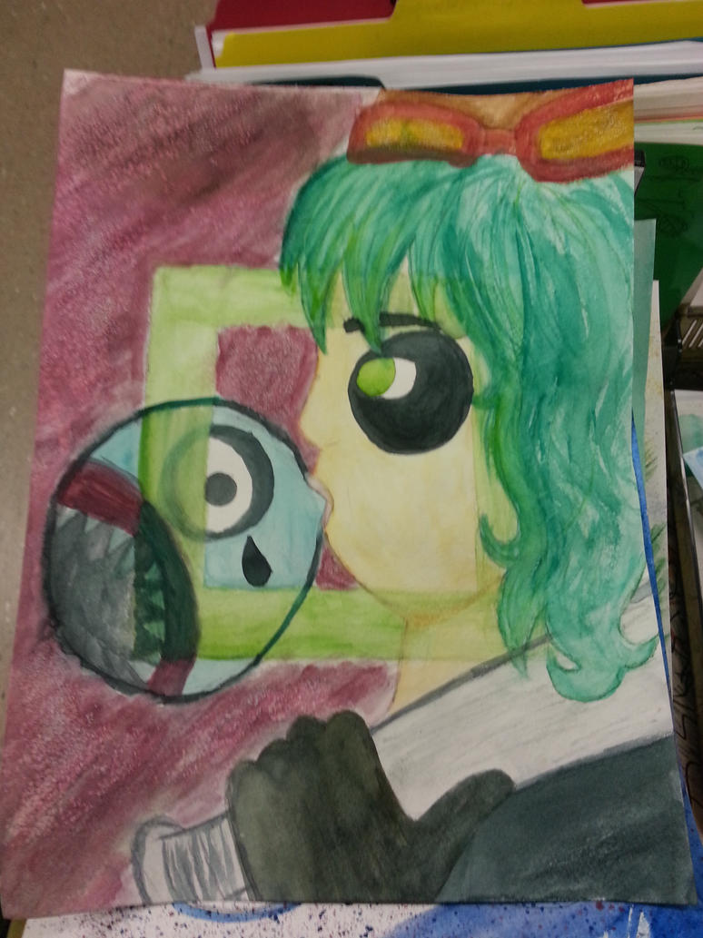 Panda Hero Watercolor painting by Strawberry-Spritz