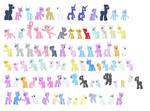 F2U Pony Bases by Strawberry-Spritz