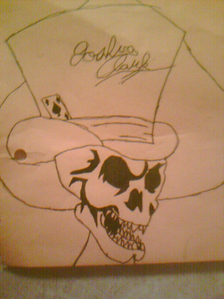 Skull in a Hat by The-Buttered-Toast