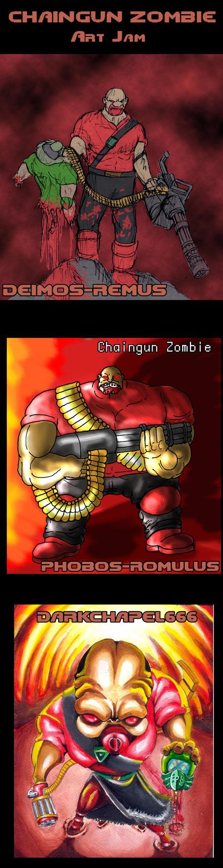 Chaingun Zombie art jam by Deimos-Remus on DeviantArt