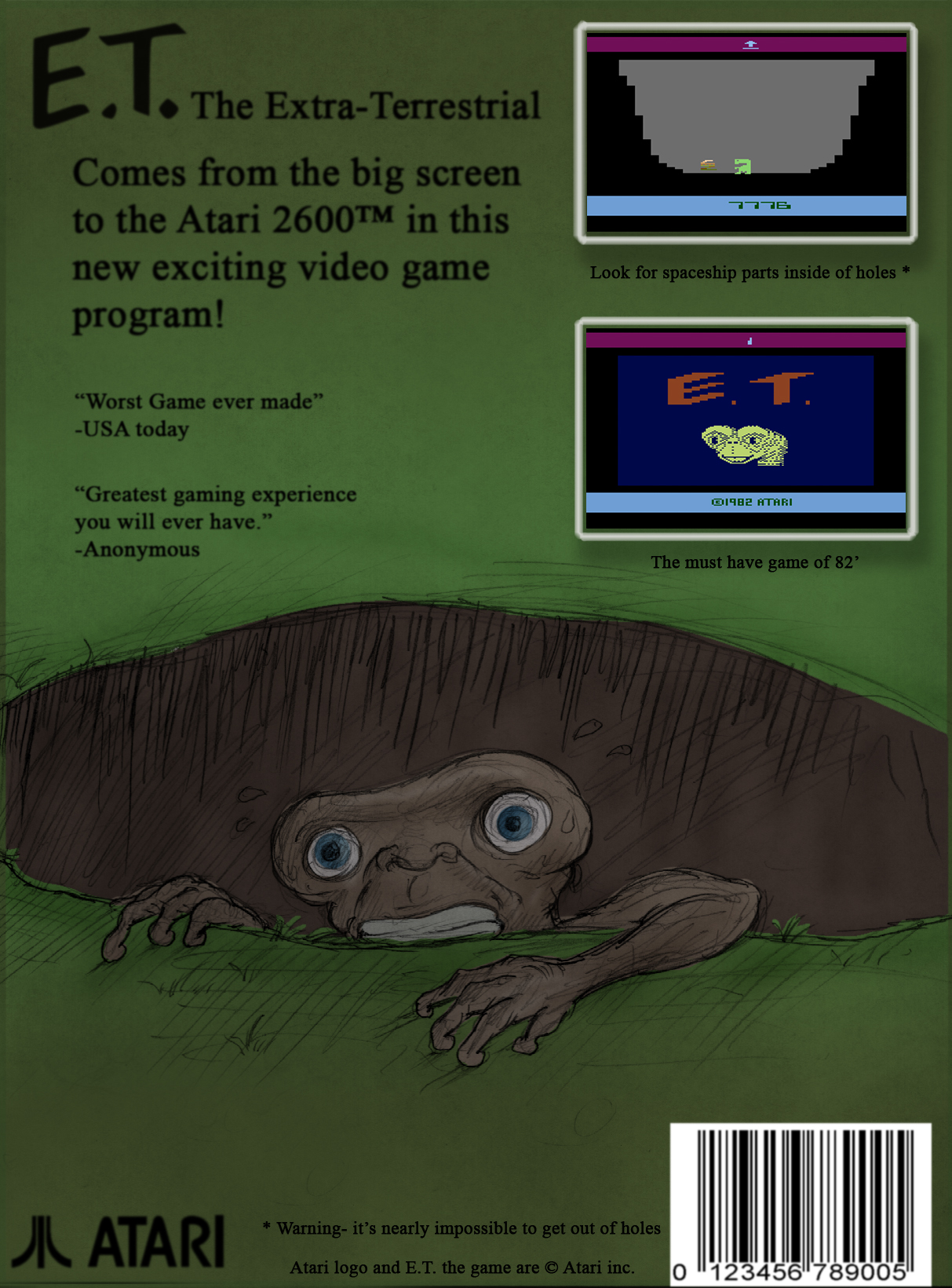 E.T. for the Atari 2600 by Deimos-Remus on DeviantArt