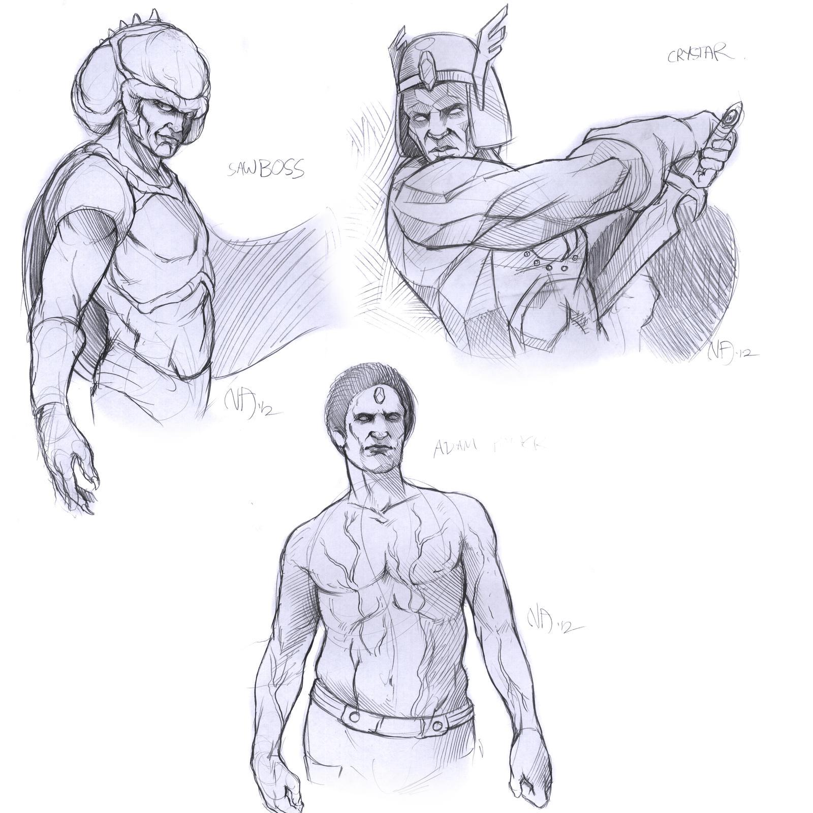 Dannycruz4 Prize sketches by Deimos-Remus
