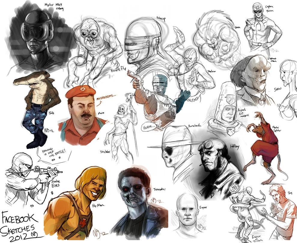 Facebook Sketchdump by Deimos-Remus