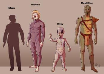 Alien Species concepts by Deimos-Remus