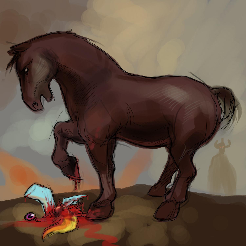 Frazetta Horse VS My Little Pony by Deimos-Remus on DeviantArt