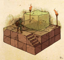 Dungeons and Dragons: Gelatinous Cube Attack