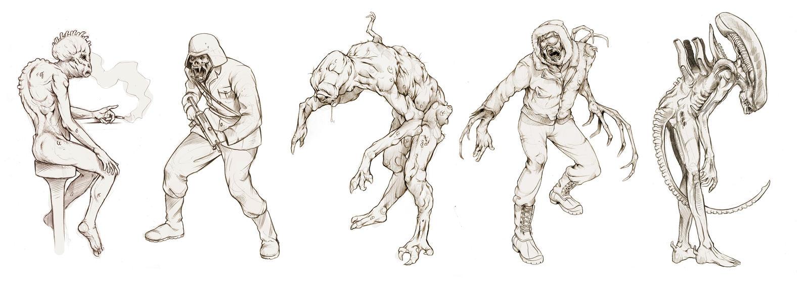 Movie Monsters by Deimos-Remus