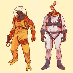 Earthworm Jim and Psycrow by Deimos-Remus