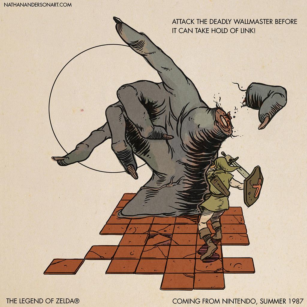 Link Vs. Wallmaster by Deimos-Remus