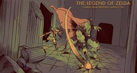 The Legend of Zelda: Link VS Ganon by Deimos-Remus