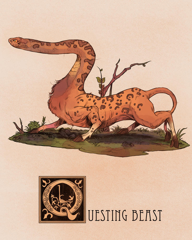 Q is for Questing Beast by Deimos-Remus