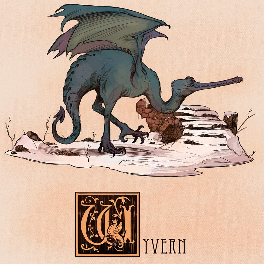 W is for Wyvern by Deimos-Remus