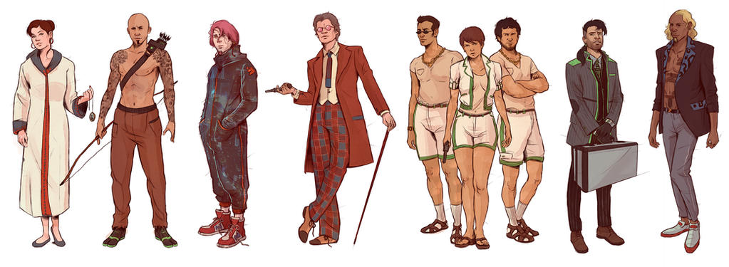 Neuromancer_Remaining Characters by Deimos-Remus