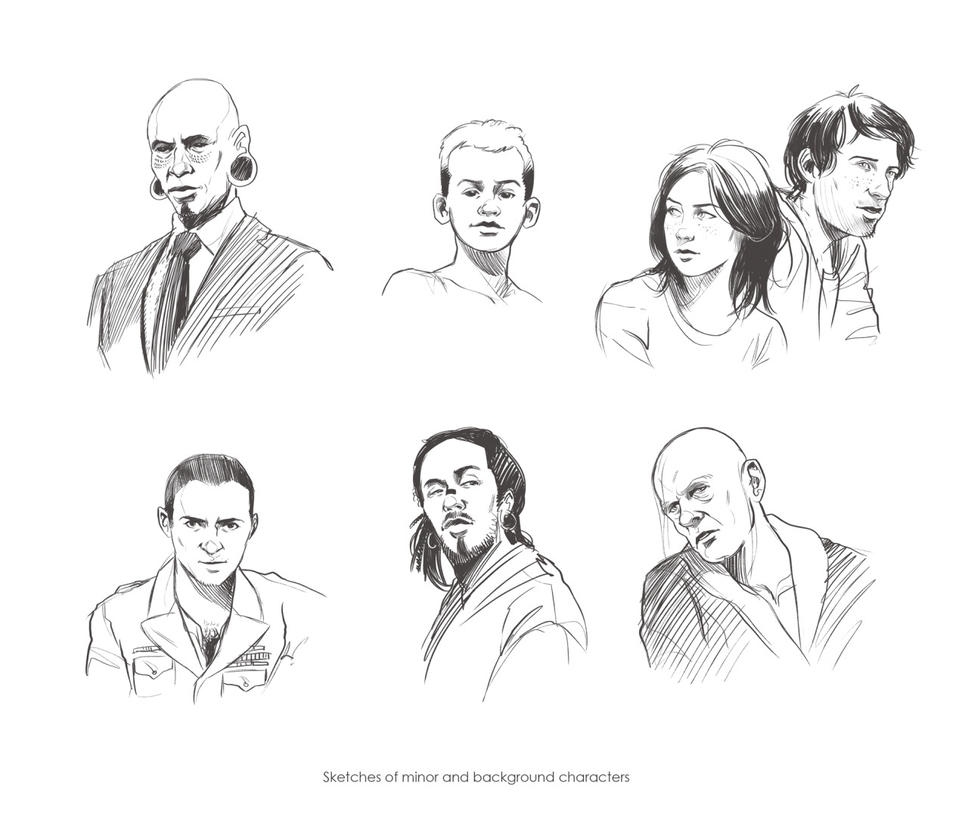 Neuromancer_last supporting characters by Deimos-Remus