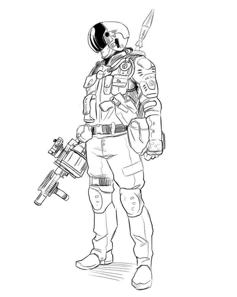 Security Officer concept sketch by Deimos-Remus