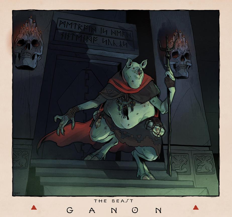 LOZ Redux: Ganon the Beast by Deimos-Remus