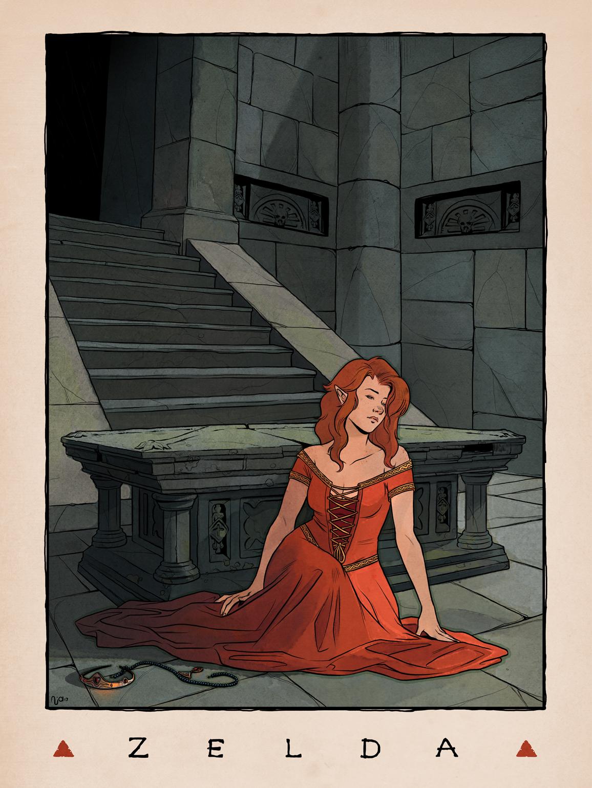 LOZ Redux: Princess Zelda by Deimos-Remus