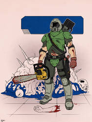DOOM: The Marine by Deimos-Remus