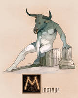 M is for Minotaur by Deimos-Remus