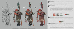 Bestiary Coloring Process