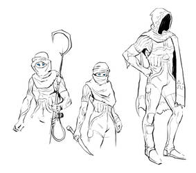 Fremen sketches by Deimos-Remus