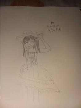 Anime girl drawing