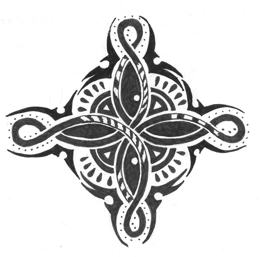 Tribal/Arabesque Double Eternity Tattoo Design By The-mad