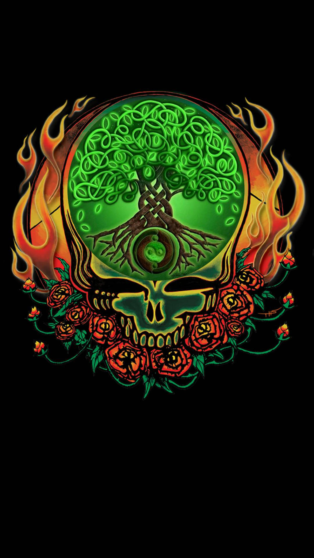 Grateful Dead Celtic Knot Tree Of Life By Ej2dole