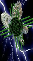 Armored Owl Zia Celtic Cross