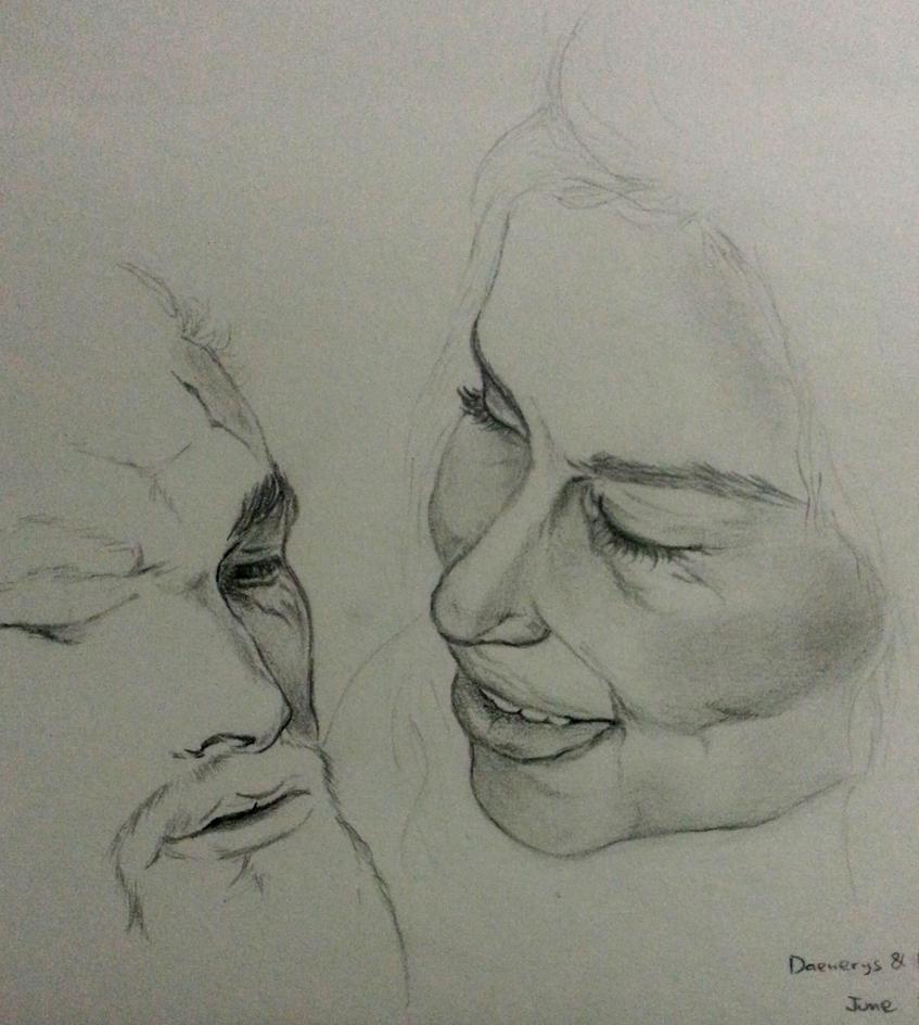Daenerys and Khal Drogo by Juliet-M