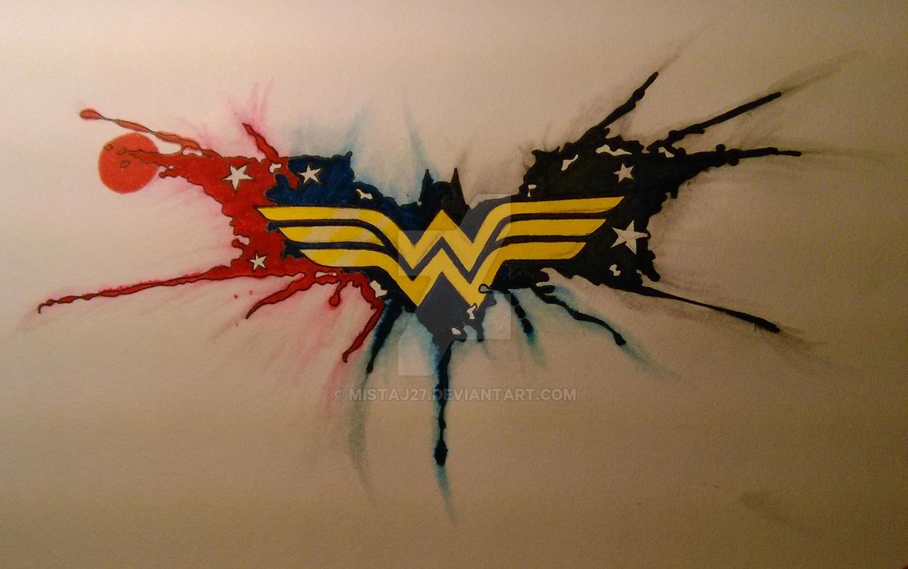 Wonder woman batman tattoo by mistaj27 on deviantart for Female batman tattoos