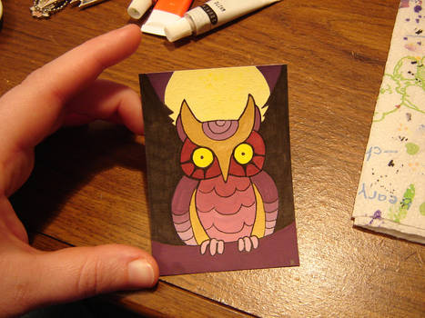 Owl ACEO