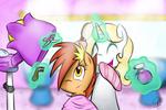 Hairdressing - Fuzzy Brushy and Eir OCs