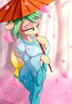 Sakura walk [YCH COMMISSION]