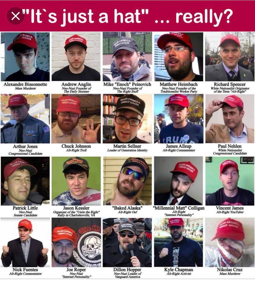 Trump - MAGA Hats-white supremacy-traitors to the