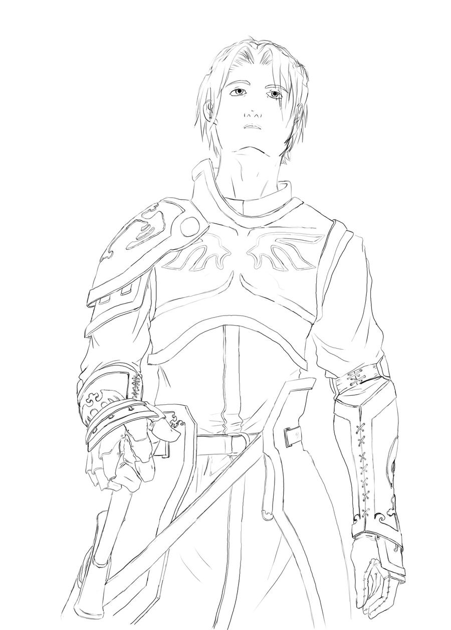 Line Drawing Knight : Knight lineart by jhaider on deviantart