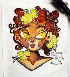 Flowers in her hair, flowers every where.
